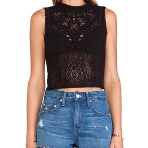 Free People / Greatest Hits lace crop Top